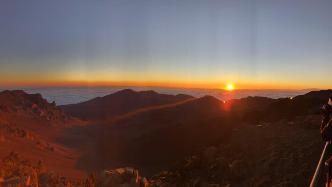 Sunrise at Haleakalā National Park crater visitor centre