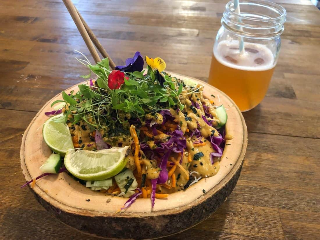 Naked Summer Roll Bowl at A'a Roots in Napili on Maui