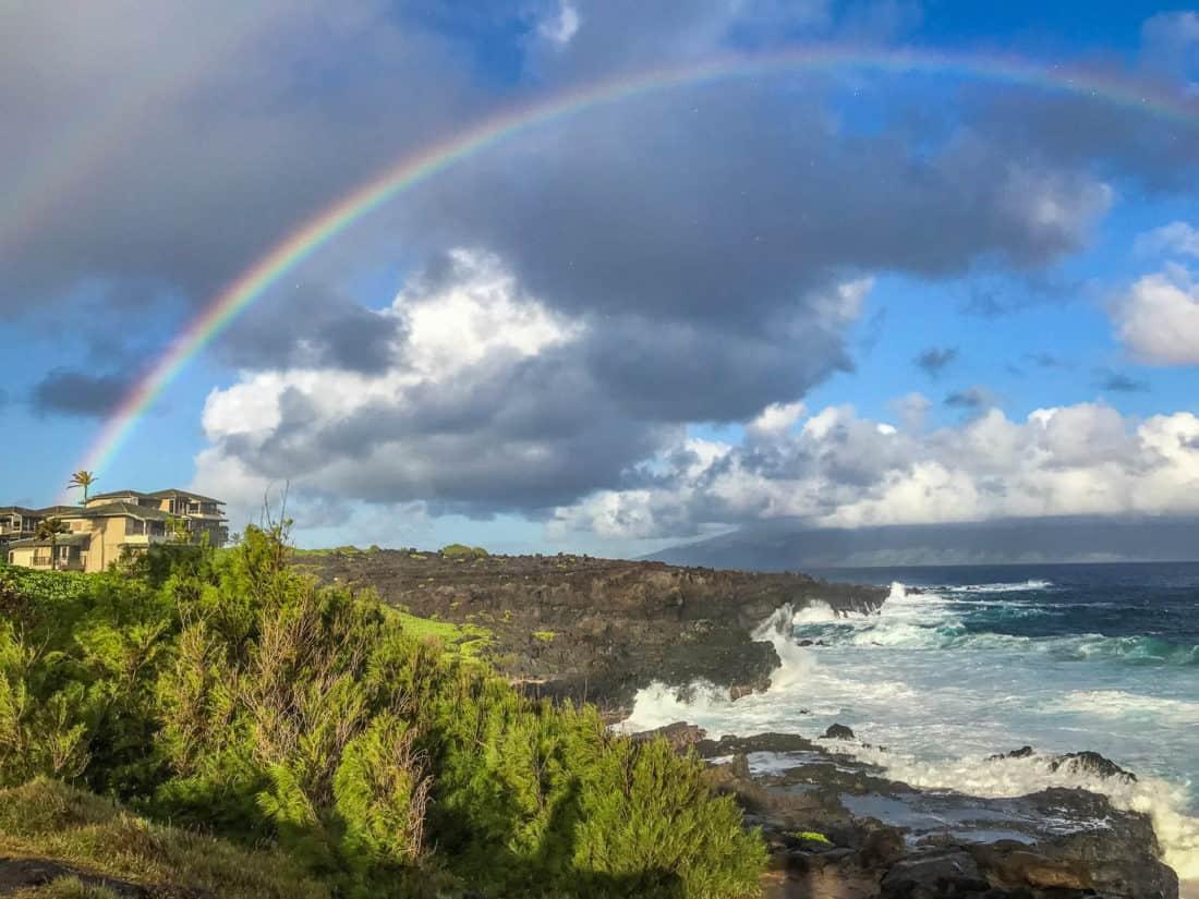 Rainbow on the Kapalua Coastal Trail in West Maui