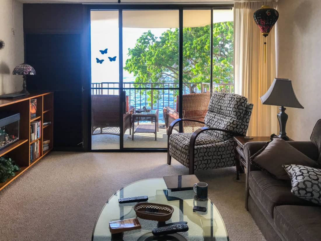 Our oceanfront condo at Kahana Reef in West Maui
