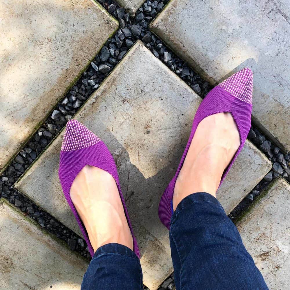 My mulberry Rothys pointed comfortable flats