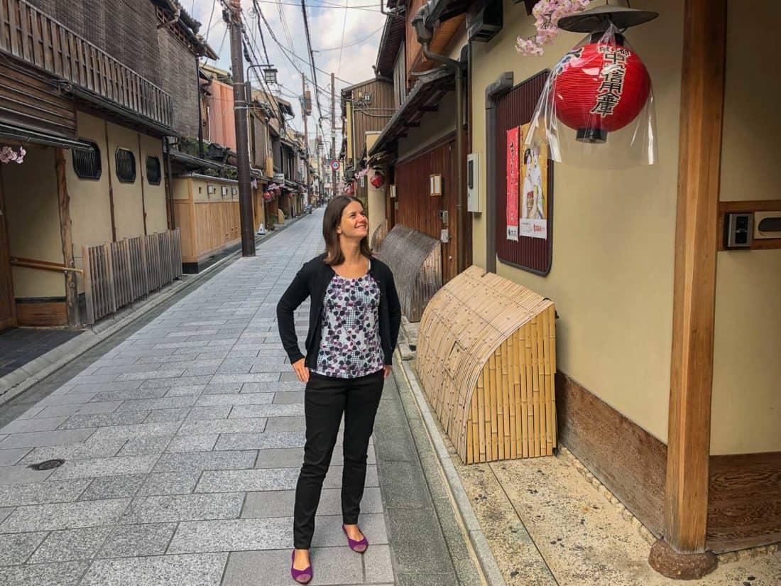 Wearing my Rothys in Kyoto