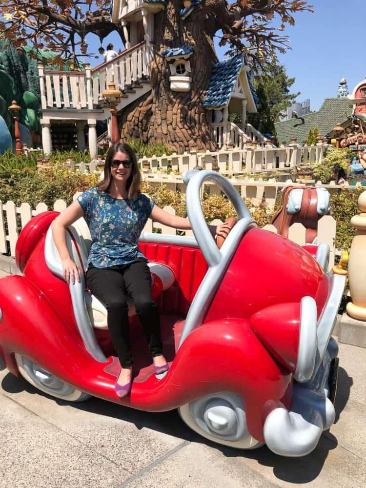 Wearing my Rothy's at Tokyo Disneyland