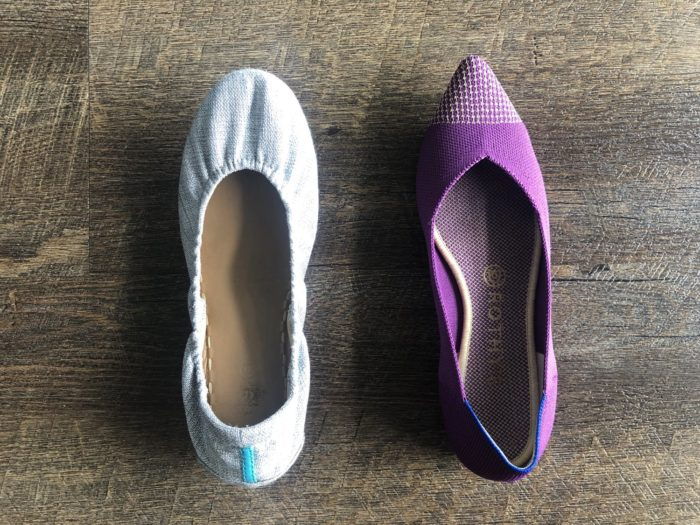 Tieks vs Rothys - a comparison of these comfortable flats