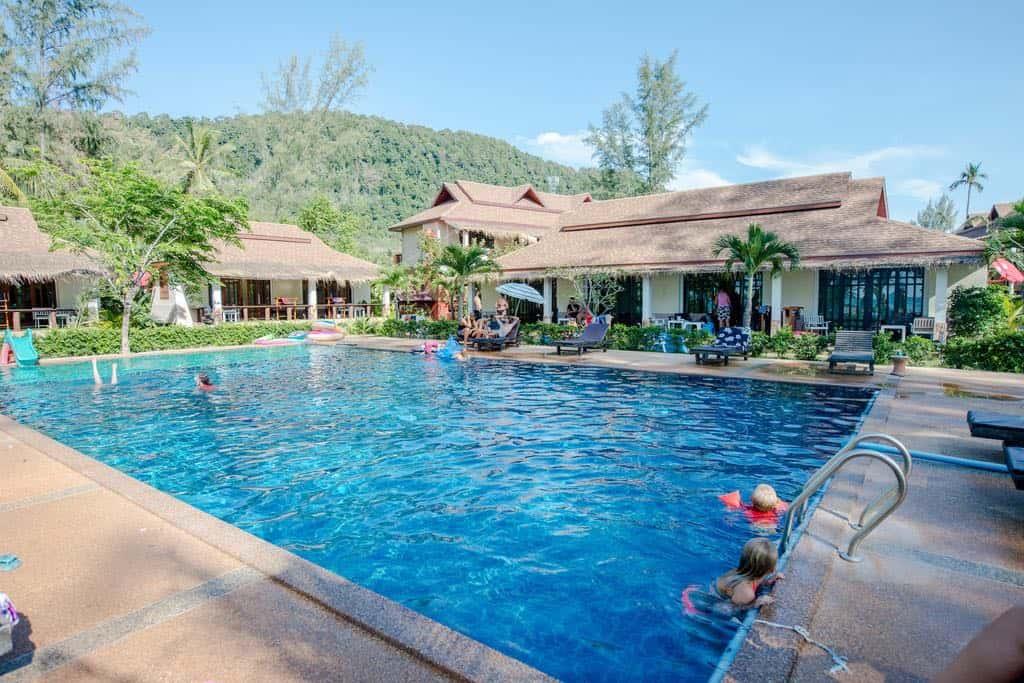 Banana Beach Resort pool on Koh Lanta