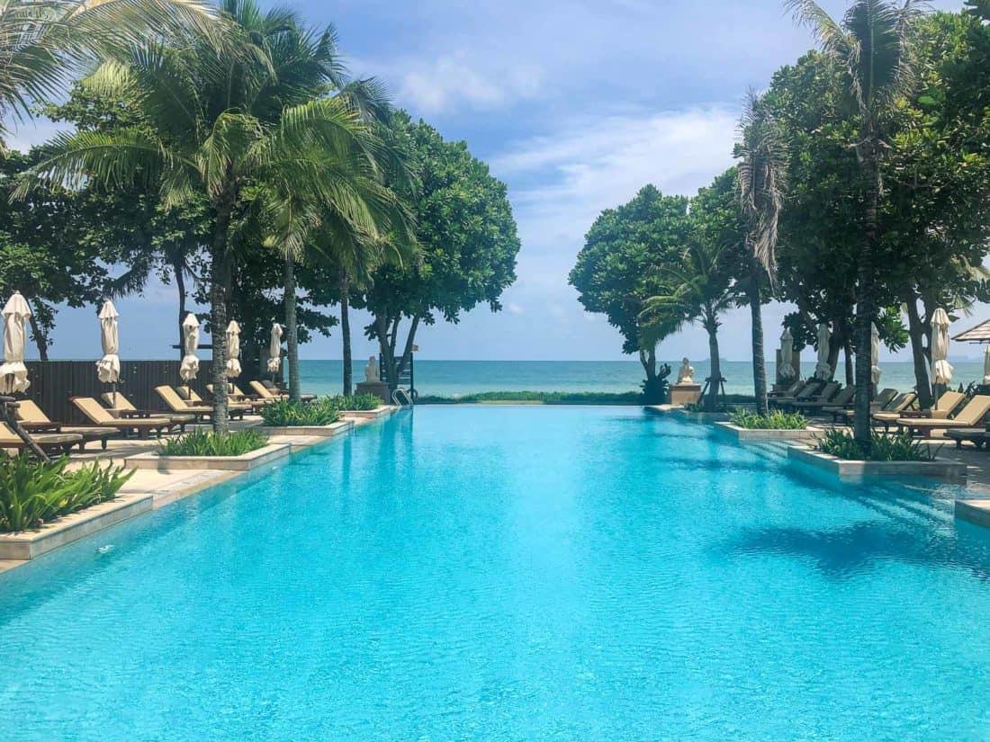 Infinity pool at Layana Resort, Koh Lanta