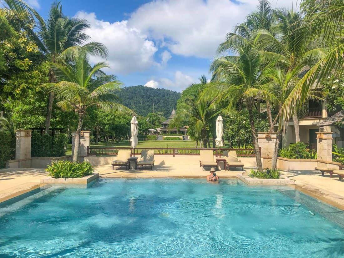 Large jacuzzi next to the main pool at Layana Resort on Koh Lanta