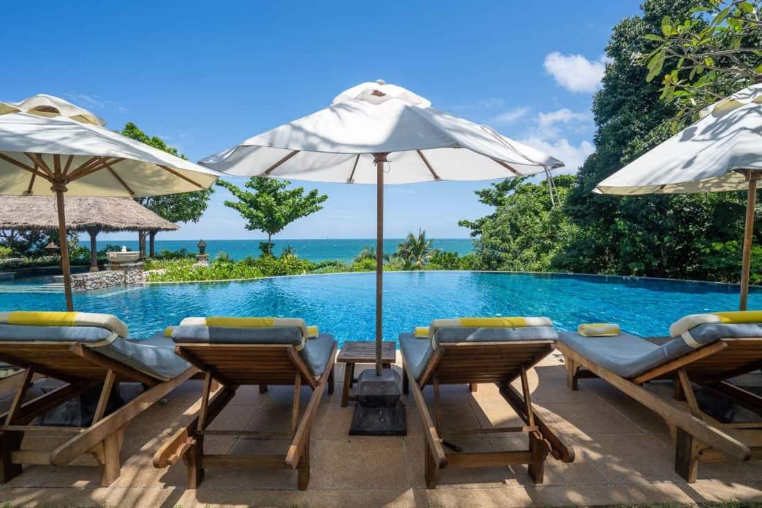 The lower pool at Pimalai Resort on Koh Lanta