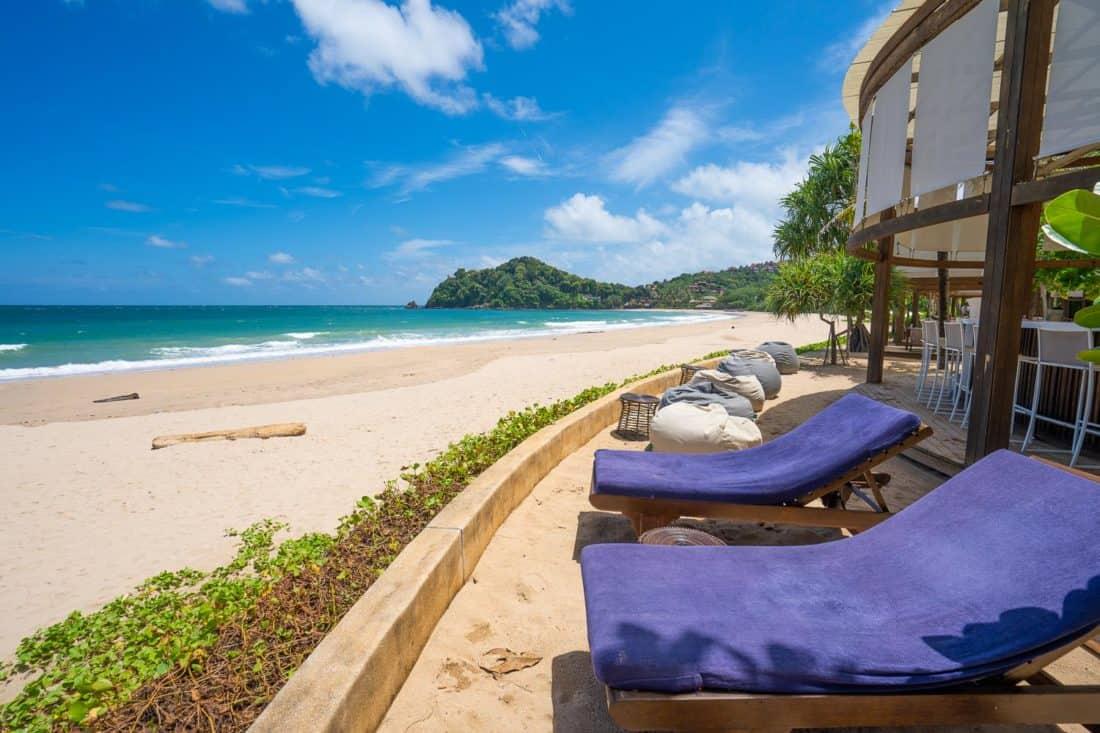 The beachfront restaurant at Pimalai Resort