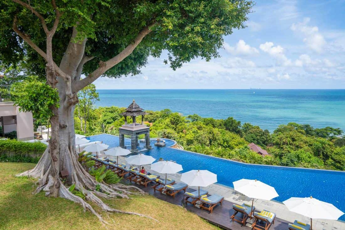 The pool at Pimalai Resort, one of the best Koh Lanta hotels