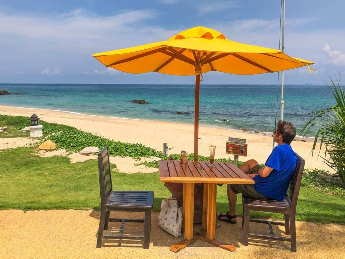 The beach bar overlooking the sea at Rawi Warin Resort on Koh Lanta