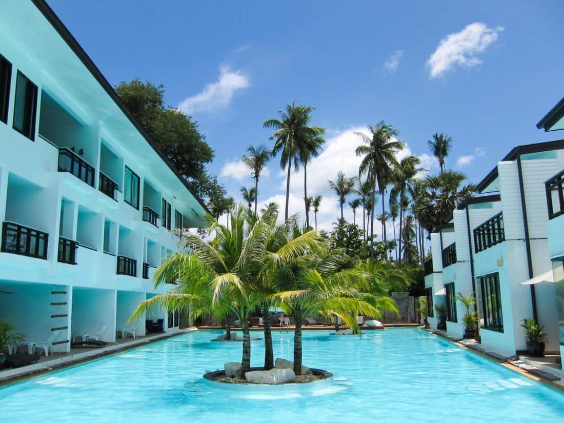 The apartments surround the pool at Sai Naam Lanta Residence