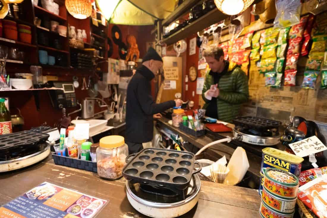Iduco Self Tacoyaki bar in Osaka