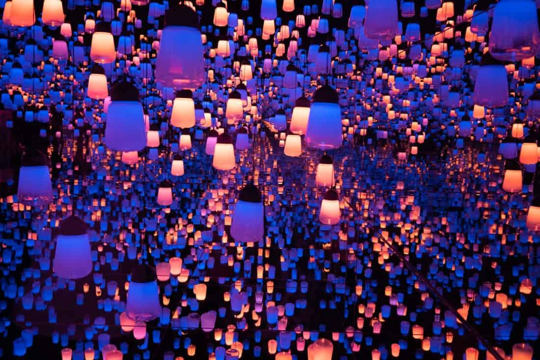 Lantern exhibition at Teamlab Borderless museum in Tokyo, one of the top attractions in Japan