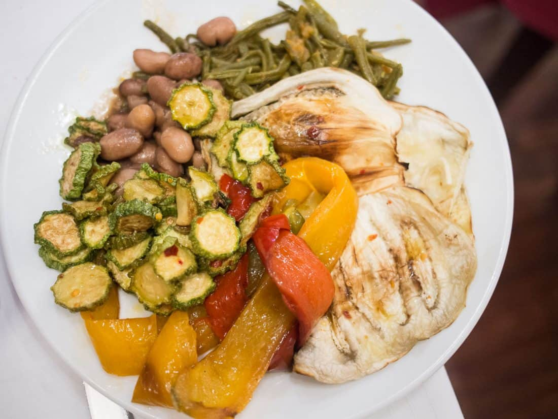 Vegetable antipasto at Pecorino, Testaccio