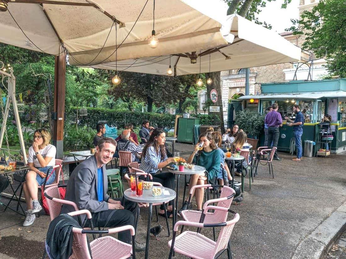 Tram Depot outdoor bar in the Testaccio neighbourhood of Rome