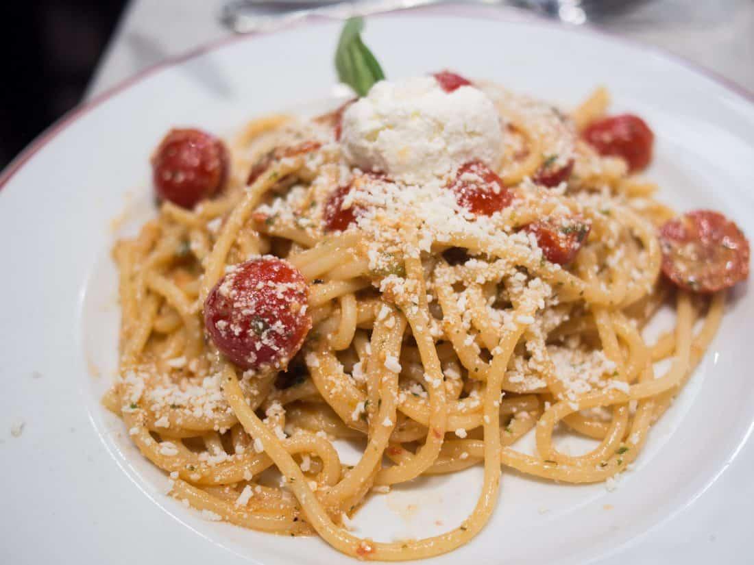 Spaghetti alla Felice at Felice restaurant in Testaccio, Rome