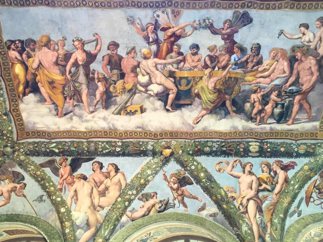 Raphael fresco at Villa Farnesina in Trastevere, Rome