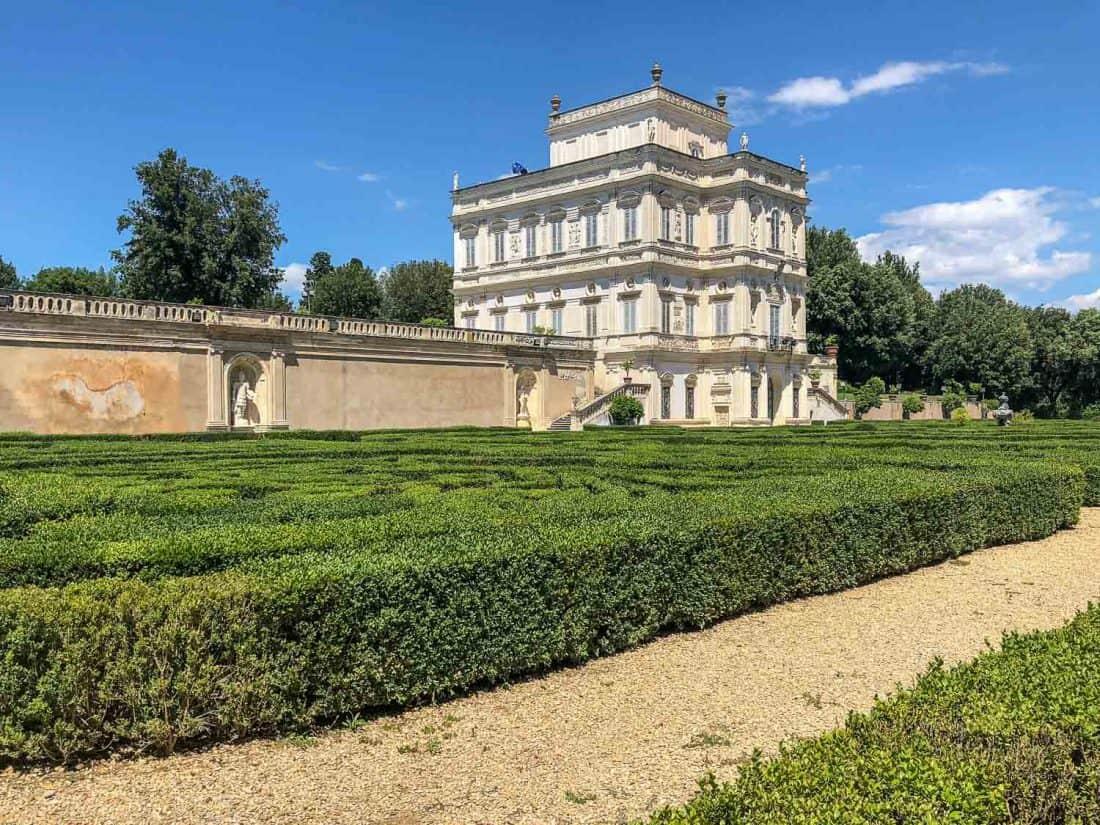 Villino Algardi in the Villa Doria Pamphili park in Monteverde, Rome