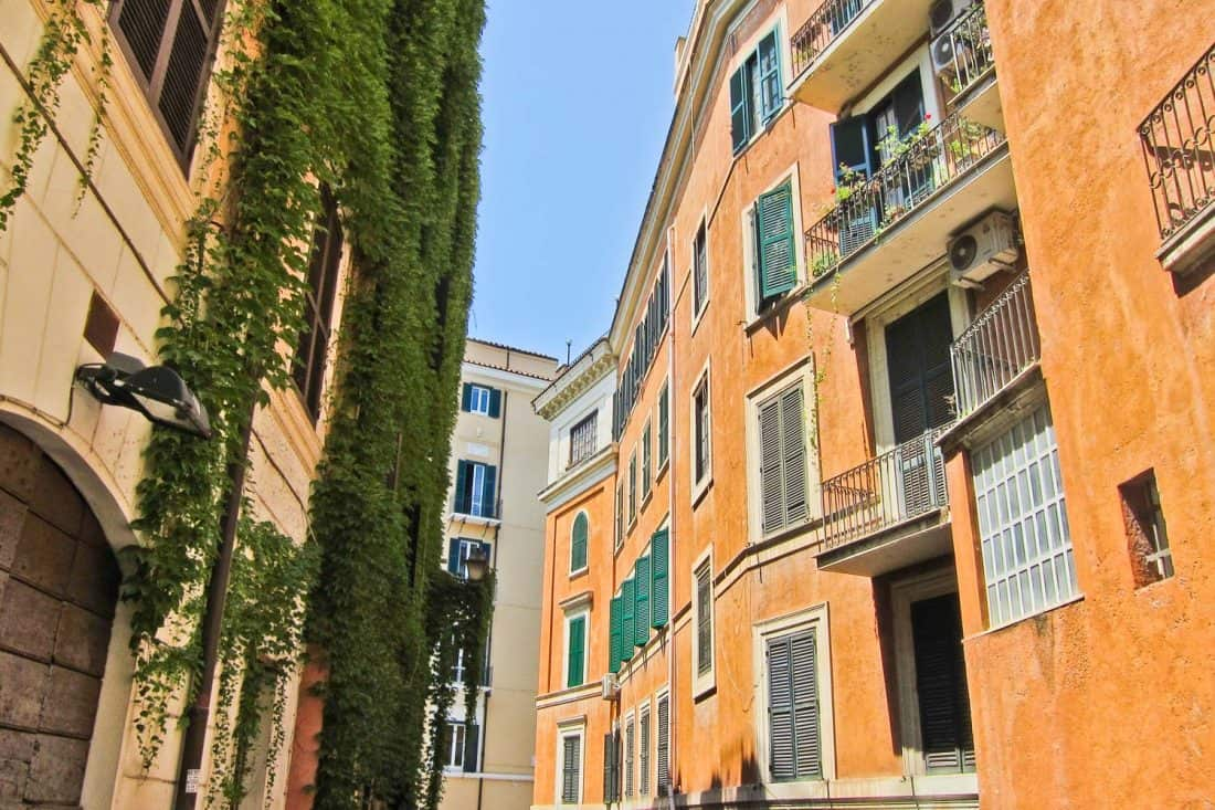 The street where we stayed in Trastevere