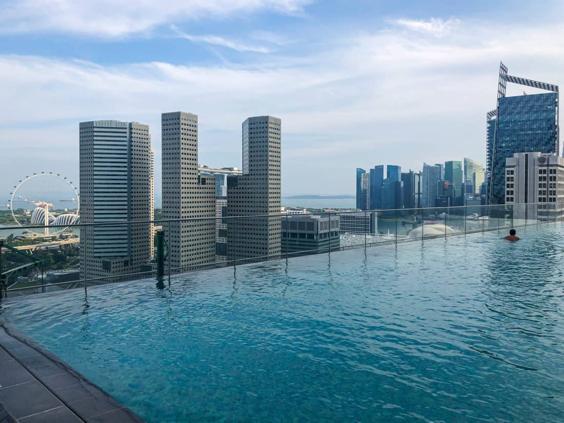 Infinity pool at Andaz Singapore