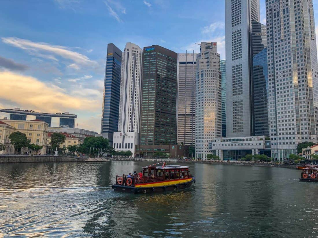 The view from Boat Quay in Singapore
