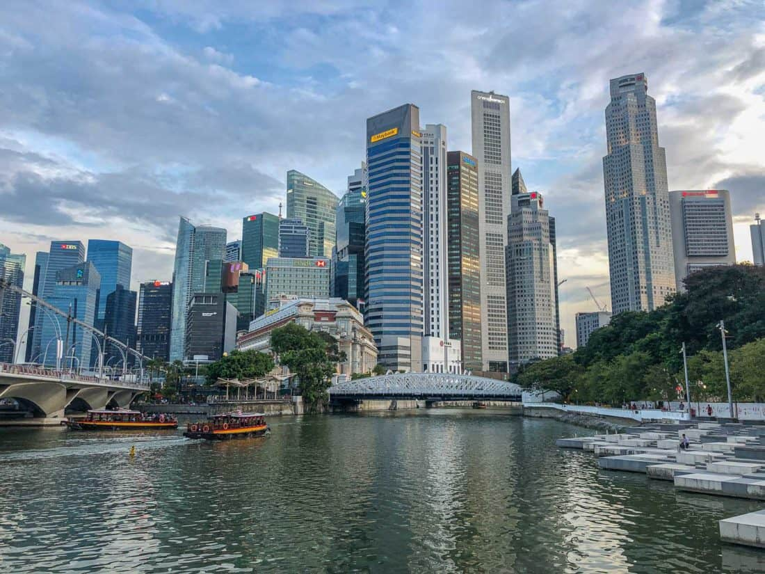 The view from near the Esplanade Bridge, Singapore