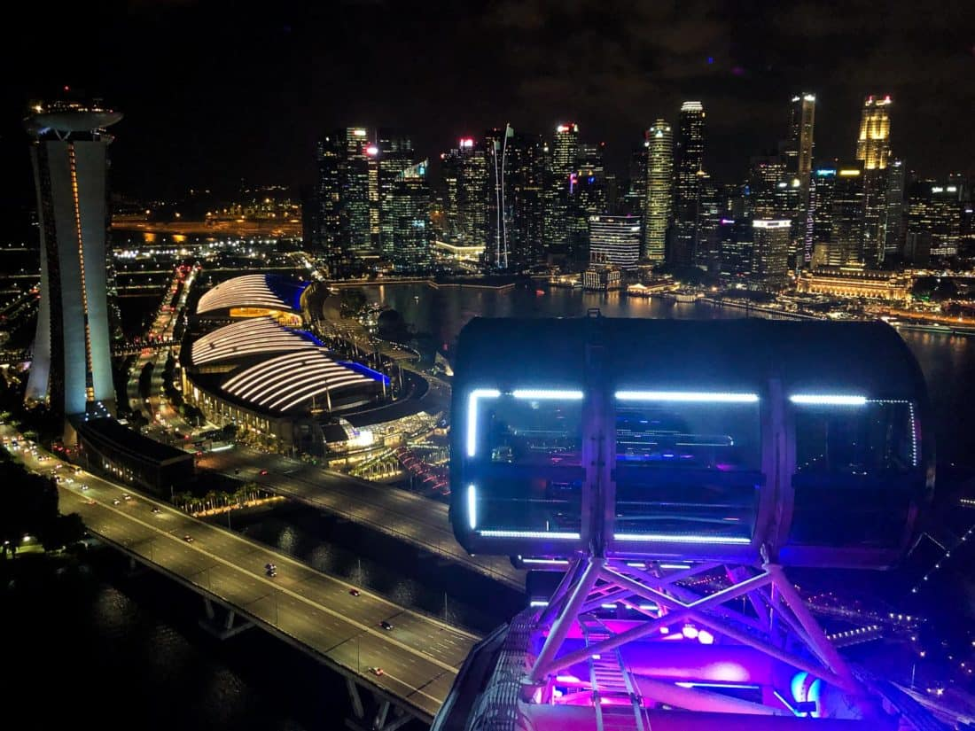 The view from the Singapore Flyer of Marina Bay