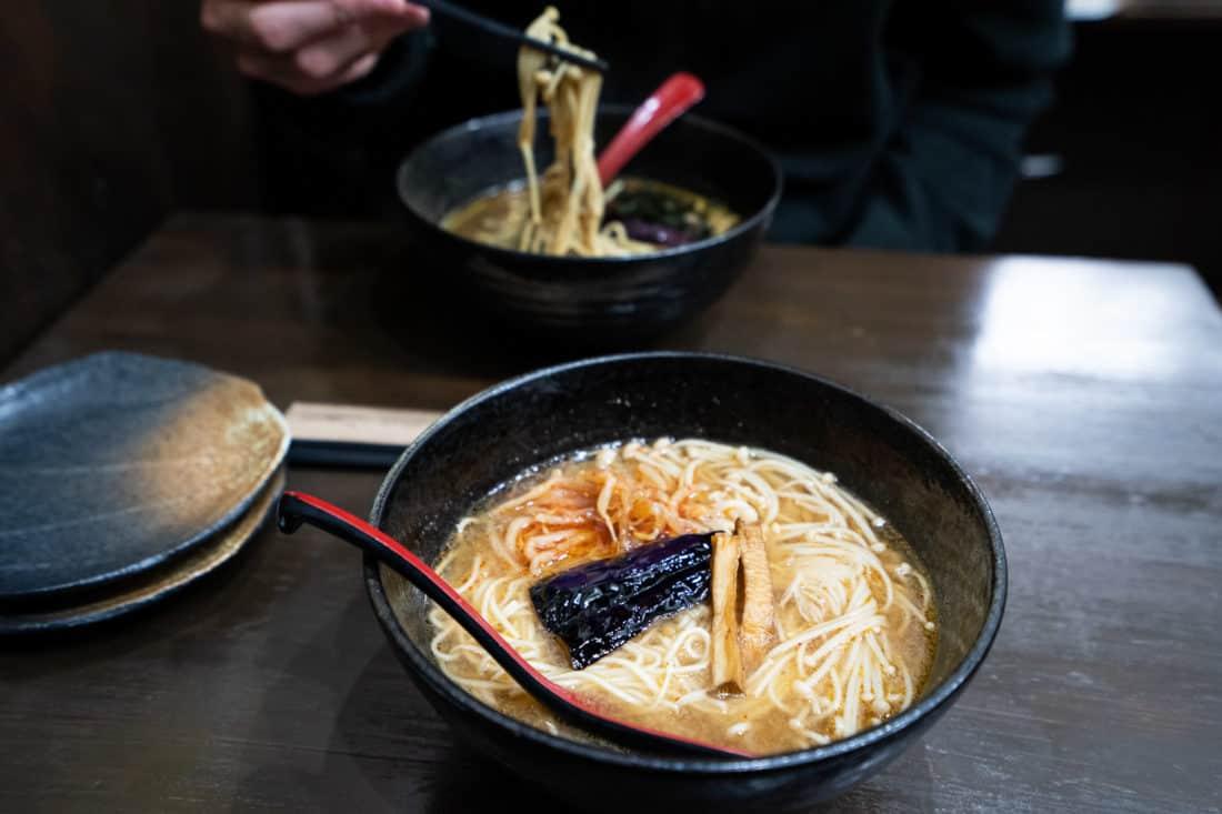 Vegan samurai ramen at Matsuri in Osaka