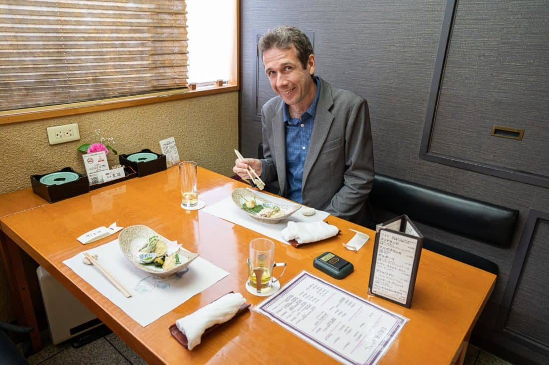 Asai Togei kaiseki restaurant in Osaka where you can get a vegan meal