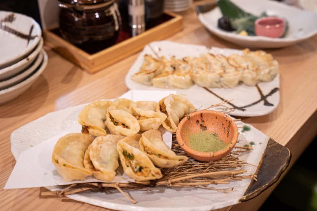 Vegetarian gyoza in Osaka at Gyozaoh Dotonbori