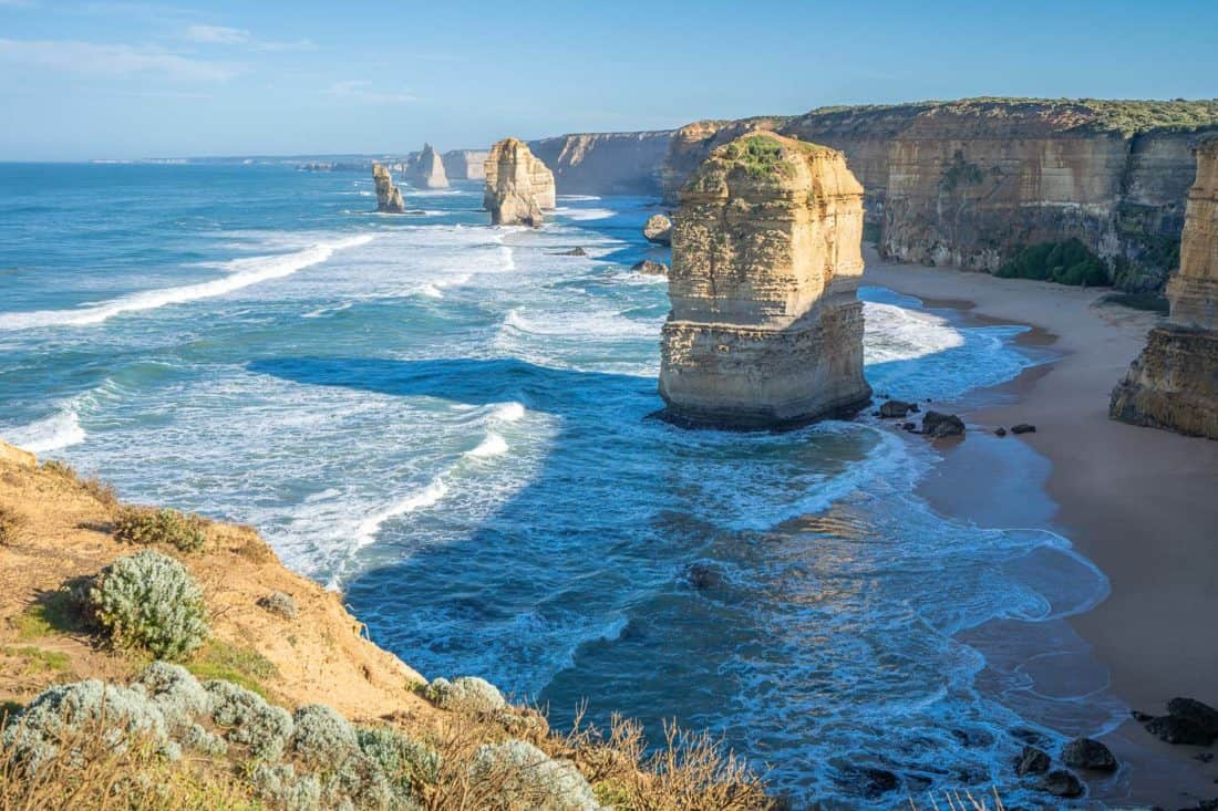 12 Apostles rock formations on the Great Ocean Road