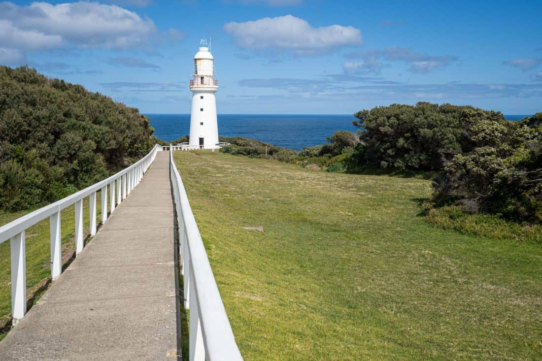 Lighthouse at Cape Otway Lightstation on the Great Ocean Road