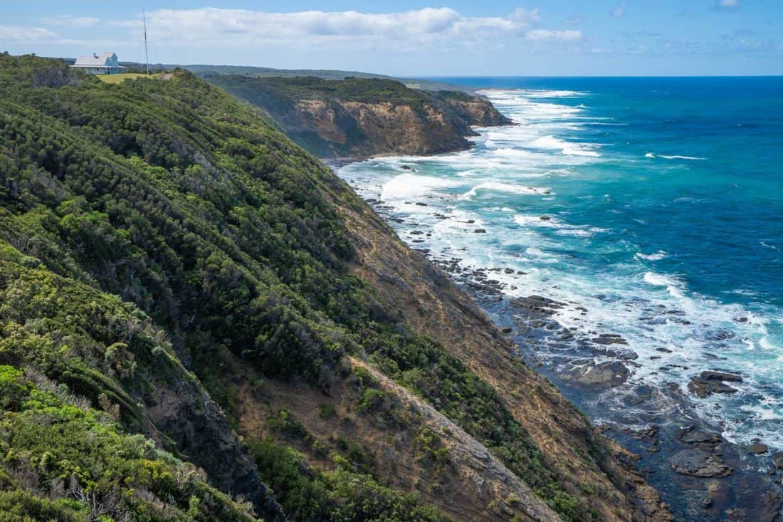 View from the lighthouse at Cape Otway lightstation on the Great Ocean Road