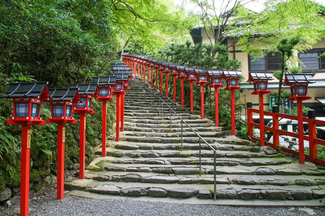 Kifune Shrine in Kibune, near Kyoto