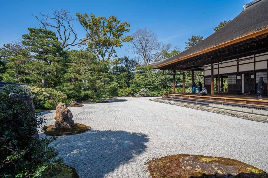 Kennin-ji raked gravel garden in Kyoto