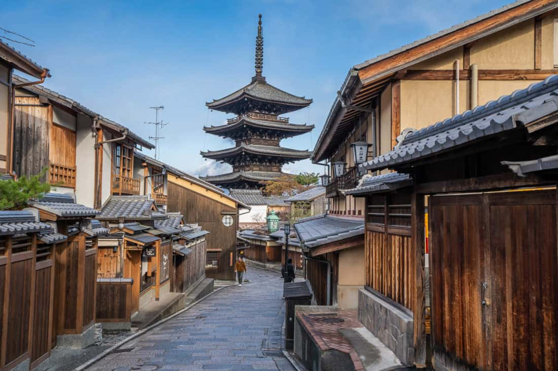 Yasaka Pagoda is one of the photographed sights in Kyoto