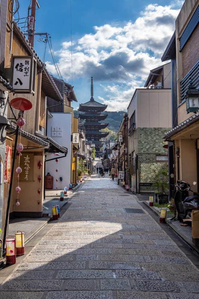 Yasaka Pagoda street in Kyoto