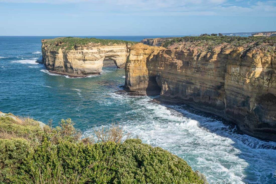 The rock formations at Loch Ard Gorge are a highlight of the Great Ocean Road