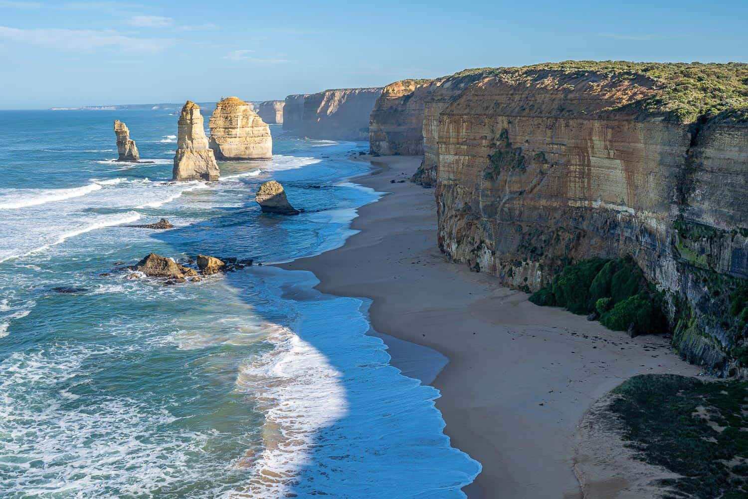 The 12 Apostles rock stacks are the most iconic sight on this Great Ocean Road itinerary from Melbourne, Australia