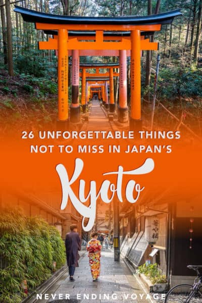 Here are ALL the best things to do in Kyoto, Japan!