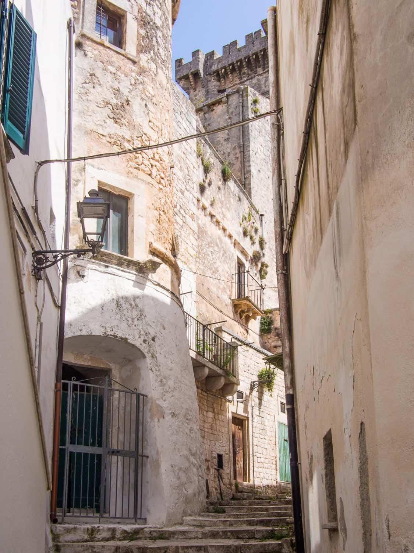 Castle in Ceglie Messapica, a town in Puglia Italy