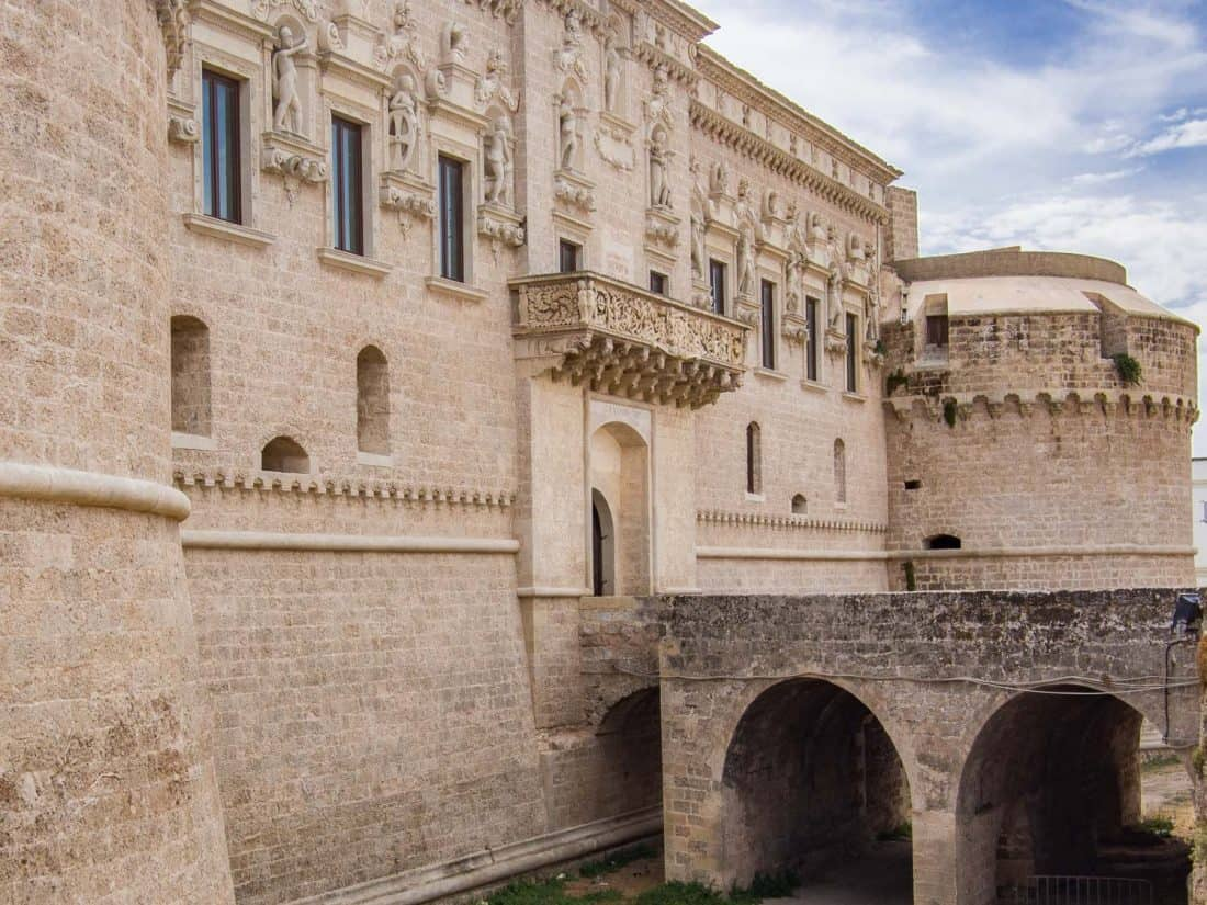 De'Monti Castle in Corigliano d'Otranto, Puglia