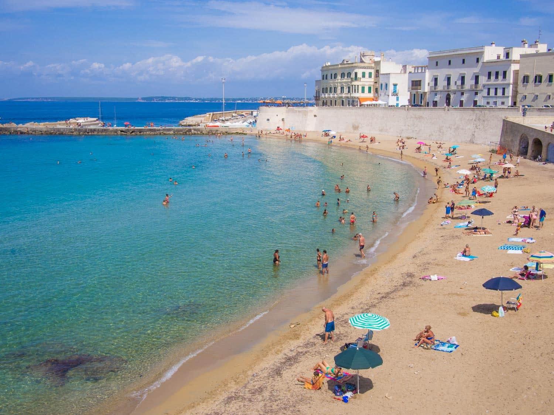 Gallipolli beach in Puglia, Italy