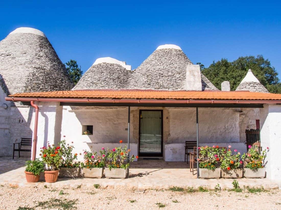 Our trullo at Masseria Ferri in Puglia, Italy
