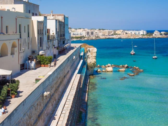 The best towns in Puglia Italy including the seaside town of Otranto