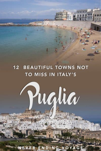If you travel to Italy, you do NOT want to miss these 12 beautiful towns in Puglia. #italy #italytravel #puglia #beautifulitaly #europe