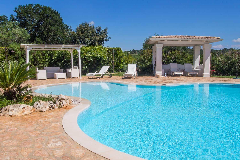 Pool at Trullo dei Messapi in Ceglie Messapica, Puglia, Italy