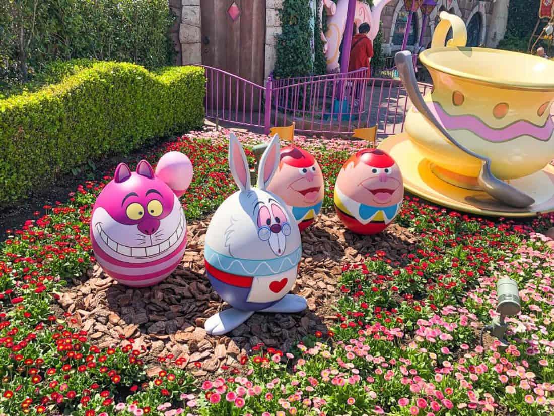 Easter egg decorations at Tokyo Disneyland