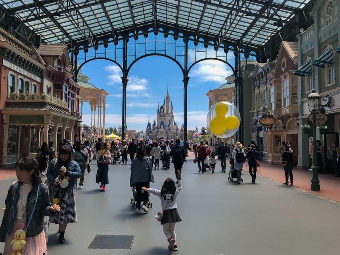 Main Street at Tokyo Disneyland